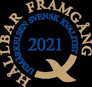 Utmärkelsen Svensk Kvalitet logotype 2021